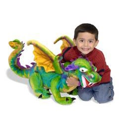 Melissa & Doug Plush Dragon Animal Toy - Thumbnail 1