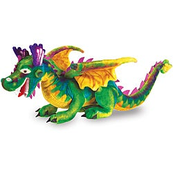 Melissa & Doug Green/Multicolor Plush Dragon Toy - Thumbnail 0