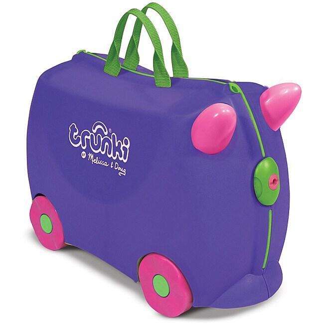 Melissa & Doug Purple Trunki Iris Ride-on Luggage