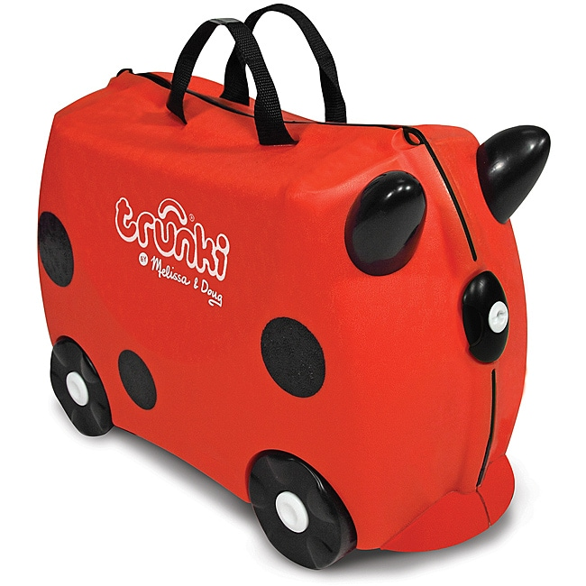 Melissa & Doug Red Trunki Ruby Ride-on Luggage