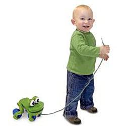 Melissa & Doug Frolicking Frog Pull Toy - Thumbnail 1