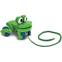Melissa & Doug Frolicking Frog Pull Toy|https://ak1.ostkcdn.com/images/products/6217805/Melissa-Doug-Frolicking-Frog-Pull-Toy-P13862875.jpg?impolicy=medium