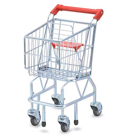 Melissa & Doug Shopping Cart Play Set - Silver