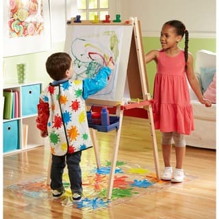 Melissa & Doug Deluxe Wooden Standing Art Easel Set|https://ak1.ostkcdn.com/images/products/6217846/P13862888.jpg?impolicy=medium