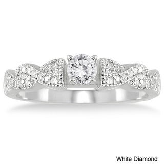 Marquee Jewels 10k White Gold 1/2ct TDW Diamond Engagement Ring (I-J, I2-I3)