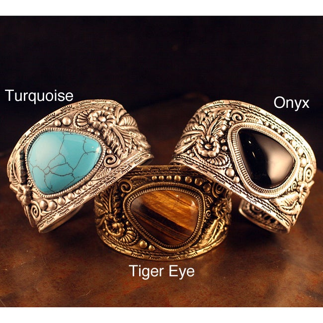 Peyote Bird Designs Wide Botanical Cuff Bracelet
