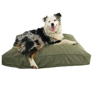 Hidden Valley Medium Sage Rectangle Dog Bed with Gusset