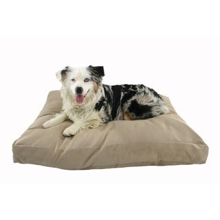 Hidden Valley Supersoft 25 x 35-inch Rectangle Stone Microsuede Dog Bed with Gusset