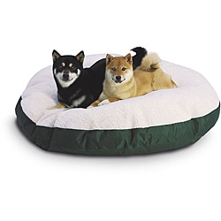 Hidden Valley Medium Sage Round Ultra Sherpa Dog Bed