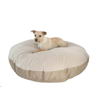 Hidden Valley Medium Tan Round Ultra Sherpa Dog Bed
