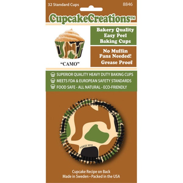 Cupcake Creations 'Camo' Standard Baking Cups (Case of 32)