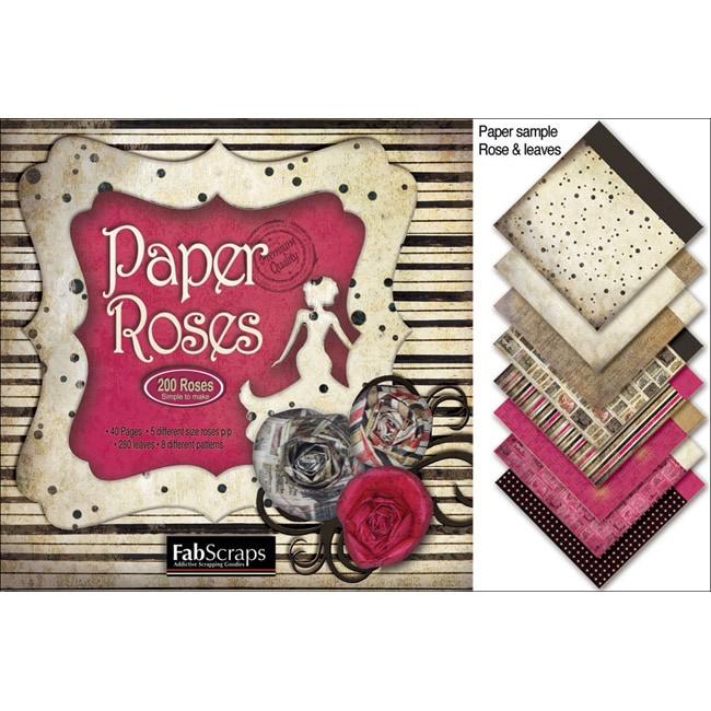 Fabscraps Burlesque Paper Roses Die-Cut Sheets