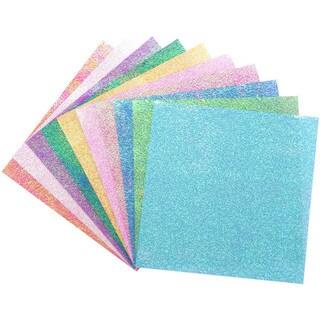 Global Arts Materials 'Textured Iridescent Dot Embossing' Folia Origami Paper (Case of 50)