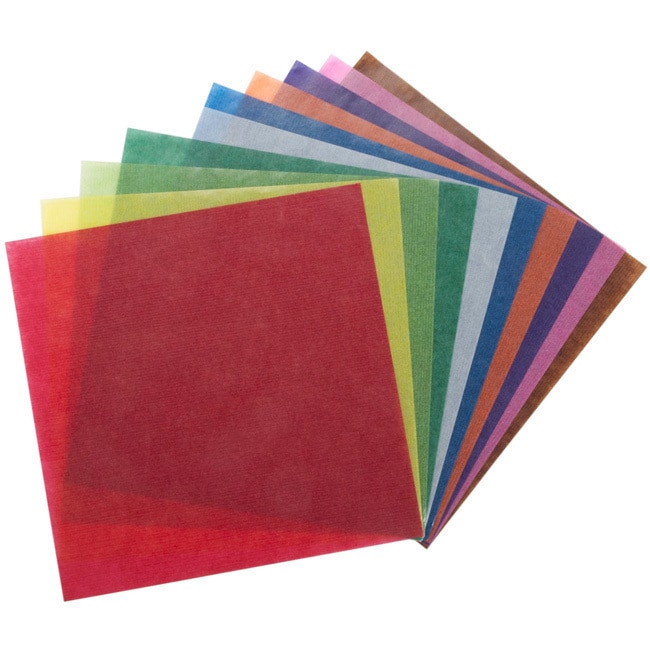 Global Art Folia Origami Transparent Paper (Pack of 500) ...