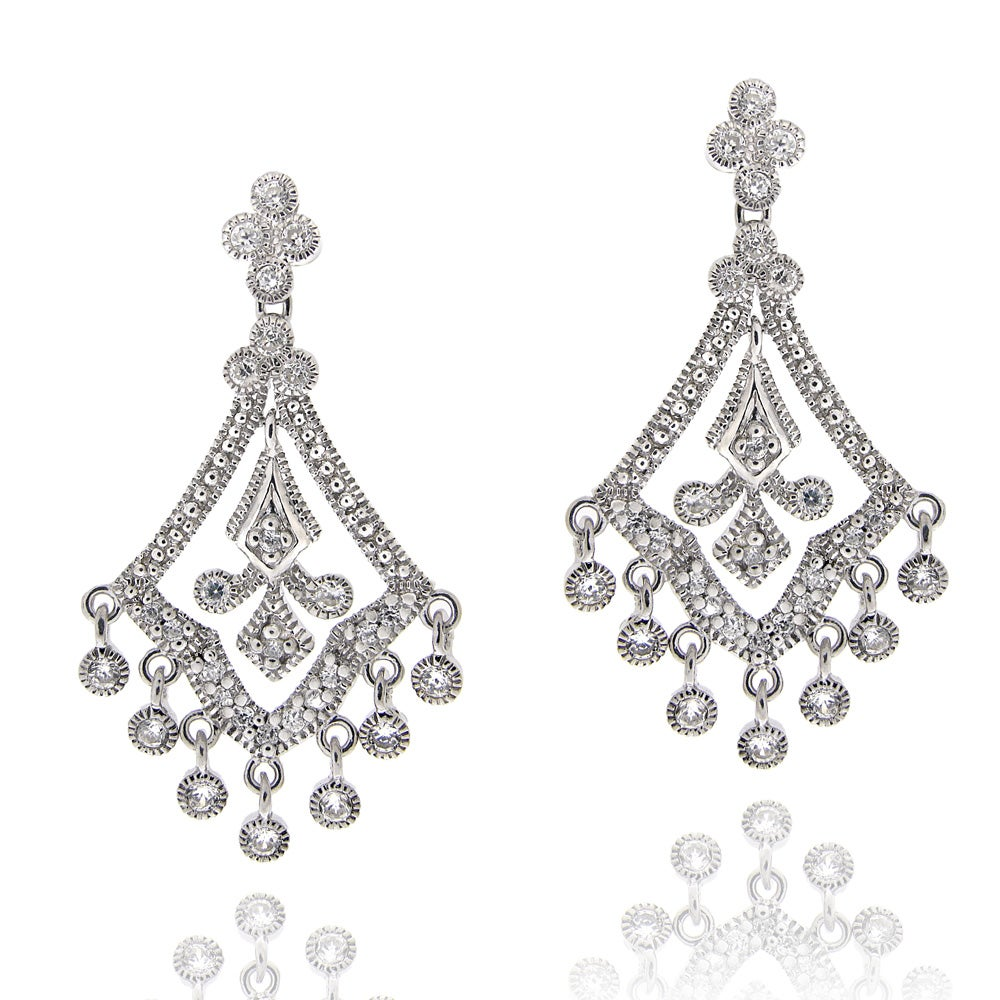 Icz stonez sterling silver cubic zirconia chandelier earrings icz stonez sterling silver cubic zirconia chandelier earrings arubaitofo Images