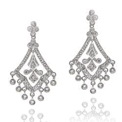 Buy chandelier cubic zirconia earrings online at overstock our icz stonez sterling silver cubic zirconia chandelier earrings aloadofball Image collections
