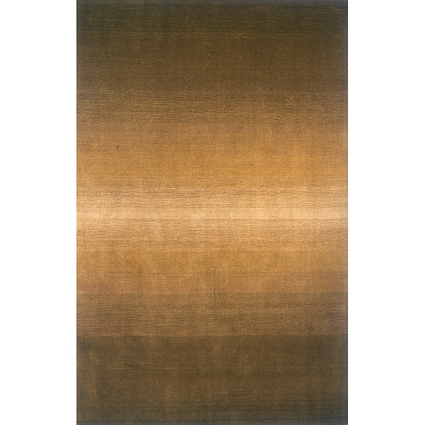 Manhattan Ombre Olive Hand-Loomed Wool Rug (5' x 8')