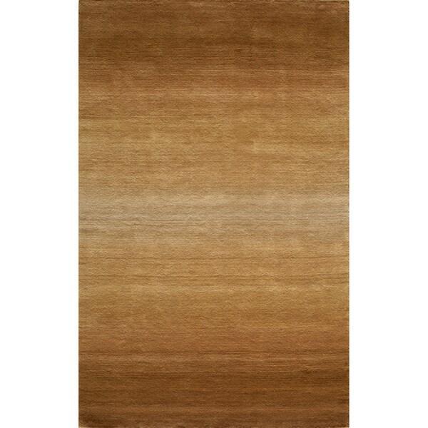 Manhattan Ombre Khaki Hand-Loomed Wool Rug (8' x 11')