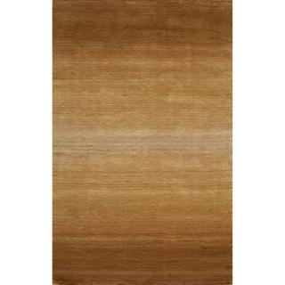 Manhattan Ombre Khaki Hand-Loomed Wool Rug (5' x 8')