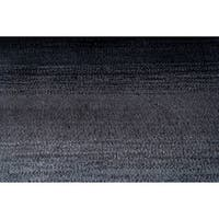 Momeni Metro Midnight Black Hand-Tufted Wool Rug (5' X 8') - 5' x 8'