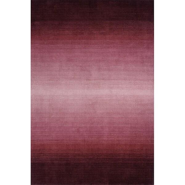 Manhattan Ombre Plum Hand-Loomed Wool Rug (5' x 8')