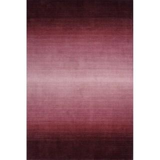 Momeni Metro Plum Hand-Tufted Wool Rug - 8' x 11'