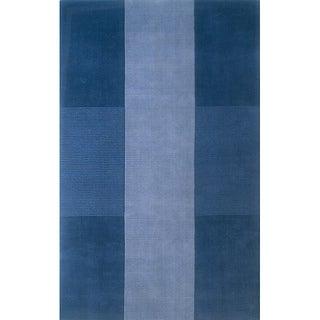 Manhattan Blue Hand-Loomed Wool Rug (3'3 x 5'3)