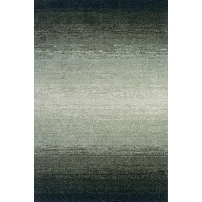 Manhattan Ombre Green Hand-Loomed Wool Rug (2'3 x 3'9)