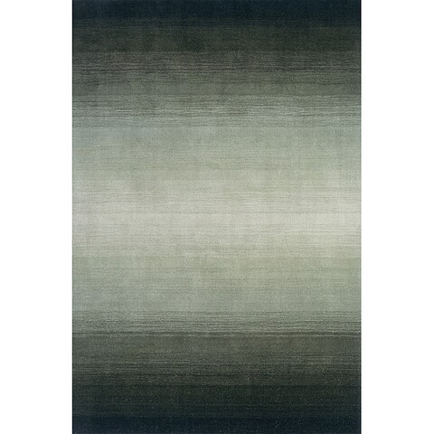 """Momeni Metro Forest Green Hand-Tufted Wool Rug (2'3 X 3'9) - 2'3"""" x 3'9"""""""
