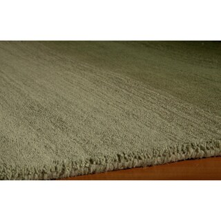 Manhattan Ombre Green Hand-Loomed Wool Rug (5' x 8')