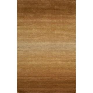 Manhattan Ombre Khaki Hand-Loomed Wool Rug (2'3 x 3'9)