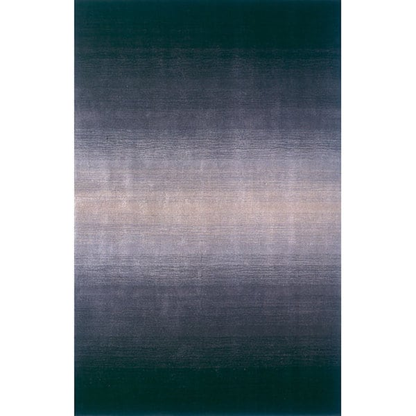 Manhattan Ombre Midnight Hand-Loomed Wool Rug (3'3 x 5'3)