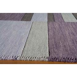 Manhattan Shades of Purple Hand-Loomed Wool Rug (5' x 8')