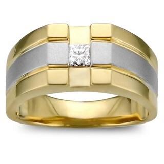 Montebello 14k Two-tone Gold 1/4ct TDW Men's Diamond Ring