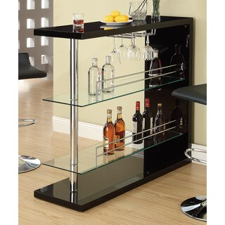 Black and Chrome Metal 48-inch Bar Table - 48""