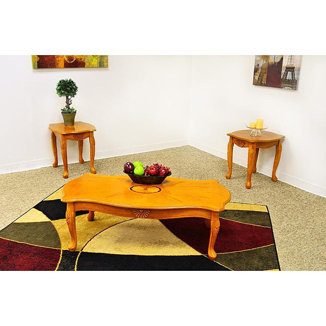 Kimson oak coffee table set free shipping today