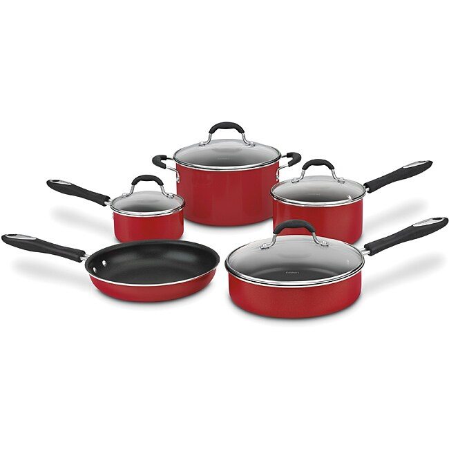 Cuisinart 55-9R Red Advantage Nonstick 9-piece Cookware Set