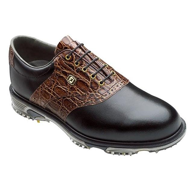 FootJoy Men's DryJoys Tour Black/ Brown Golf Shoes