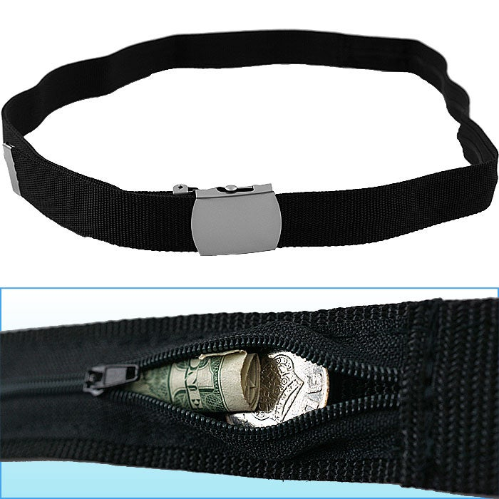 53-inch Belt w/ Hidden Zippered Storage Pocket - Thumbnail 0