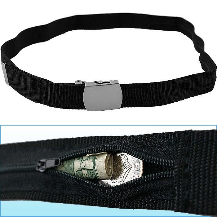 53-inch Belt w/ Hidden Zippered Storage Pocket