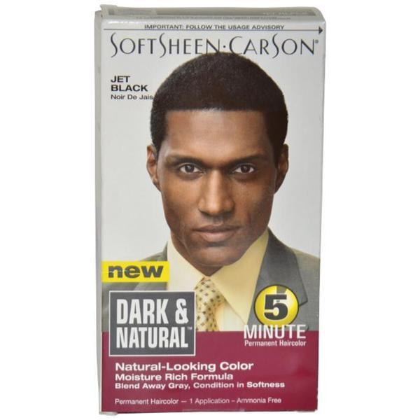 Dark and Natural Men's Jet Black 5-minute Permanent Hair Color