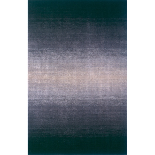 Momeni Metro Midnight Black Hand-Tufted Wool Rug (8' X 11')