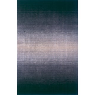 Manhattan Ombre Midnight Hand-Loomed Wool Rug (8' x 11')