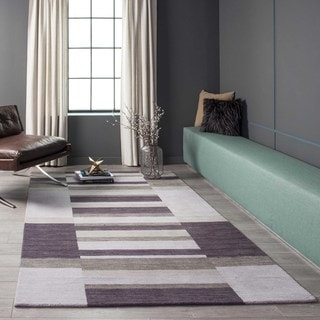 "Manhattan Shades of Purple Hand-Loomed Wool Rug (2'3"" x 3'9"")"
