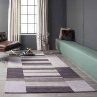 "Momeni Metro Lilac Hand-Tufted Wool Rug - 2'3"" x 3'9"""