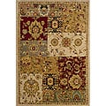 Berkley Beige/Red Transitional Area Rug (3'10 x 5'5)