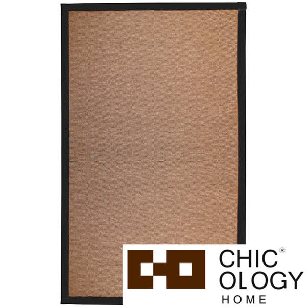Chicology NatureWeave No Dust Paper Yarn Floor Mat / Area Rug Durable, Yet So Twisted Paper Cord Audrick Black Khaki (2 ' x 3 ')
