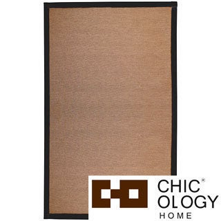 Chicology NatureWeave No Dust Paper Yarn Floor Mat / Area Rug Durable, Yet So Twisted Paper Cord Audrick Black Khaki (4 ' x 6 ')