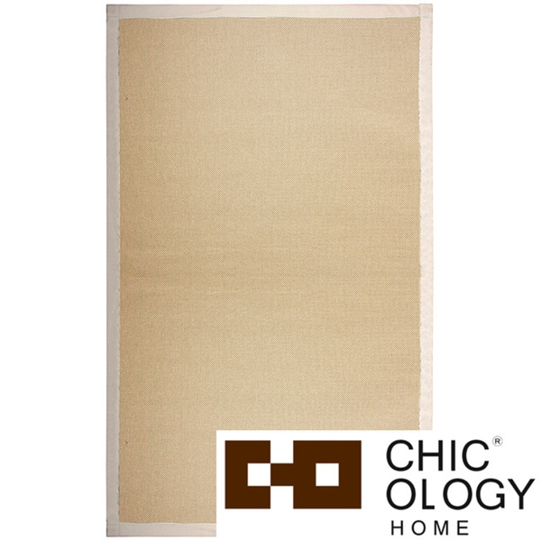Chicology NatureWeave No Dust Paper Yarn Floor Mat / Area Rug Durable, Yet So Twisted Paper Cord Audrick Cappuccino (4 ' x 6 ')