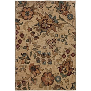 Berkley Beige/ Gold Transitional Area Rug (3'10 x 5'5)